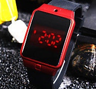 Unisex New Trend Personality Square Dial Silicon Band Fashion Digital Watch Sport Watch (Assorted Colors)