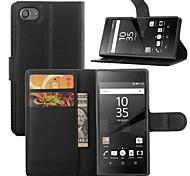 elegant pu leahter wallet Holster Fall Abdeckung für Sony Xperia z5 kompakte (verschiedene Farben)