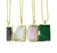 Beadia 1Pc Natural Agate Stone Pendants For Necklace Irregularity Shape DIY Jewelry Pendants For Women (Dyed Colors)