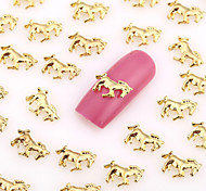 200PCS Lovely Nail Art Nail Jewelry Nail Decorations Gold Finger Toe Alloy for Aryclic Nail Tips Decorations