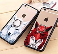 los nuevos hebilla anillo casos aacrylic 3d de la familia de los animales para iPhone6 6s / iphone (colores surtidos)