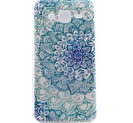 Green Pattern TPU Material Transparent Soft Cell Phone Case for Samsung Galaxy J1/J5