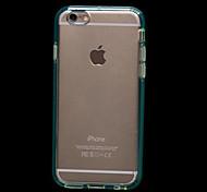 cristal transparent tout bord entièrement clos cas de silicium pour l'iphone 6 plus