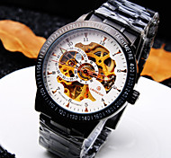 Men's Trend High-end Business Round Dial Mineral Glass Mirror Steel Band Fashion Mechanical Waterproof Watch