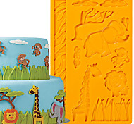 Cake Decoration Tools Jungle Animals Fondant and Gum Paste Mold Cake Decorating Border Silicone Mold