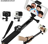 sinnofoto alta qualità bastone selfie alluminio estensibile s14 con otturatore a distanza per ios android smartphone