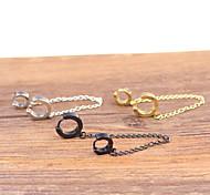 Fashion Double Buckle Titanium Steel Earrings(1PC)