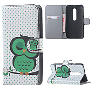 Napping Owl Leather Wallet Flip Stand Cover Case For  Motorola MOTO G3 G 3nd Gen XT1552
