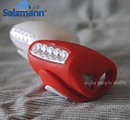 Salzmann gewöhnlichen 1-Modus 400 Blinklicht / Sicherheitsleuchten Batterie 3 aaa Alarm Radfahren / Motorrad 10 rot / weiß