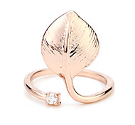 Glossy leaves jewelry ring aesthetic joints