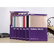 caja elegante de cuero del soporte magnético ultra-delgada de 8.0 t715c color clasificado galaxy tab samsung s2