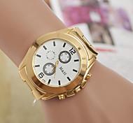relógio de quartzo relógio da liga suíça tendência de moda masculina de relógio cinto de ouro