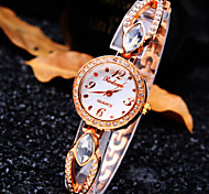 Women's New Luxury Trend Round Diamond Dial Diamond Band Fashion Quartz Bracelet Watch (Assorted Colors)
