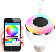 E27 6W smart colourful bluetooth 4.0 speakers led music player bulbs App Control