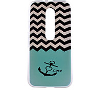 Wave Anchor Love Pattern PC Hard Back Cover Case for Motorola MOTO G3 3rd Gen