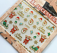 3D Gilding Christmas Series Father Christmas Nail Art Stickers