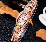 Women's Luxury Trend Ellipse Diamond Dial Diamond Band Fashion Quartz Bracelet Watch (Assorted Colors)