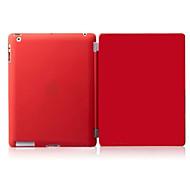 ipad 2 / ipad 4 / ipad 3 compatível wake cor sólida pu couro up tampa da caixa inteligente s com casos de volta