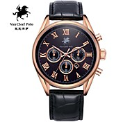 Men's fashion leather strap watch with Va-nans-15071800102