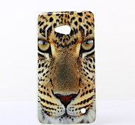 Yellow Eyes Pattern TPU Soft Case for Nokia N640