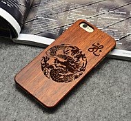 Retro Dragon Real Handmade Cherry Wood Case for iPhone 6/6s