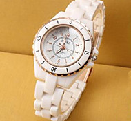 Ladies Watch New Digital Contracted Imitation Ceramic Watch