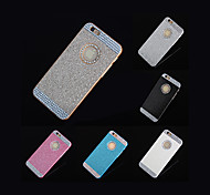2015 Hot Rhinestone Sparkling Logo Window Case for iPhone 6(Assorted Colors)+Phone Holder Gift