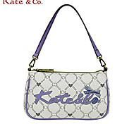 Kate & Co.® Women PVC Evening Bag White / Camel - TH-02223