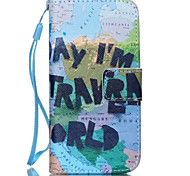 Global World Pattern PU Leather Phone Case for iPhone 5C