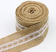 Сплошной цвет джут Свадебные ленты-1 Пьеса / Установить Плетенная лента Подарочный бант