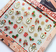 3D Gilding Christmas Series Snowman Nail Art Stickers