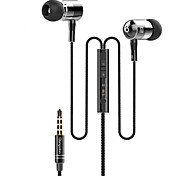Langsdom I-1 High Quality 3.5mm Noise-Cancelling Mike In Ear Earphone for iPhone and Other Phones(Assorted Colors)