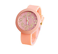 Student fashion Solid color fashion  Geneva silicone wrist quartz watch
