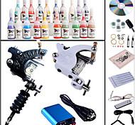kit di inchiostri macchine set 20pcs tatuaggio completo kit macchina del tatuaggio