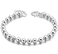 Woman Smooth Bead Sterling Silver Bracelet
