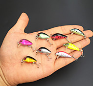 Lot 8 Mini Bronzing Fishing Lures CrankBait Floating Rattles 2.8cm 1.1inch 1.7g