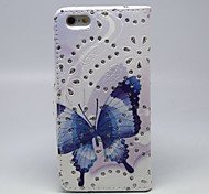 Butterfly Pattern PU Skin Soft Case for iPhone6
