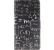 disegno funzione matematica pu custodia in pelle per Huawei p8 lite