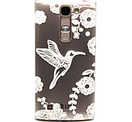 White bird Pattern TPU Relief Back Cover Case for  LG Spirit H440N/H422