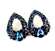 Women's Fashion Droplets Set Auger Sapphire Fashion Stud Earrings
