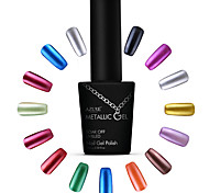 Azure Beauty Metallic Gel Nail Polish Soak Off UV Gel Metal Gold Color Nail Art  Manicure 3#-14#(10ml,12 Colors)