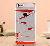 Flowing Liquid Stair Clear Cover Case for iPhone 5/5S (Assorted Color)