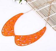 Fashion Jewelry Chain Orange Collar Pendant Choker Necklace