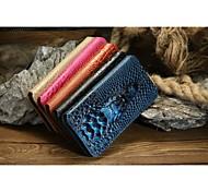 cocodrilo patrón de cuero de cocodrilo de lujo casos de cuerpo completo nobles con la mejor venta para iphone 6 más