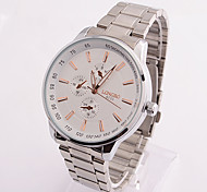 Men Steel Waterproof Watch With White Dial Cool Watch Unique Watch