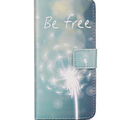 Free Dandelion Pattern Relief PU Leather Wallet Case with Stand and Card Holder for iphone6/6S