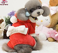 Cat / Dog Coat / Hoodie / Pants / Clothes/Clothing Red Winter Bowknot Christmas / New Year's