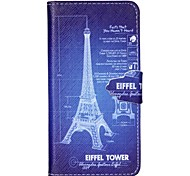 Paris Story Pattern PU Leather Case with Card Slot and Stand for Samsung Galaxy S4 mini/S3mini/S5mini/S3/S4/S5/S6
