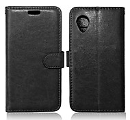 PU Leather + TPU Back Cover Wallet Case Flip Cover Photo Frame Case for LG Nexus 5/E980