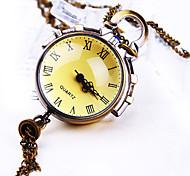 Unisex New Round Glass Sphere RomeNumber Dial Fashion Quartz Watch Necklace Watch